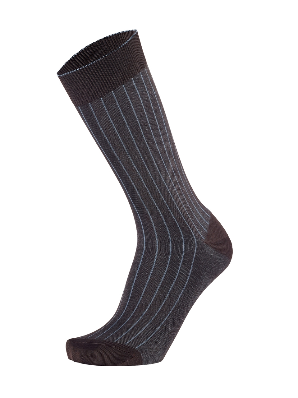 Picture of 2-COLOR RIBBED BROWN/INDIGO