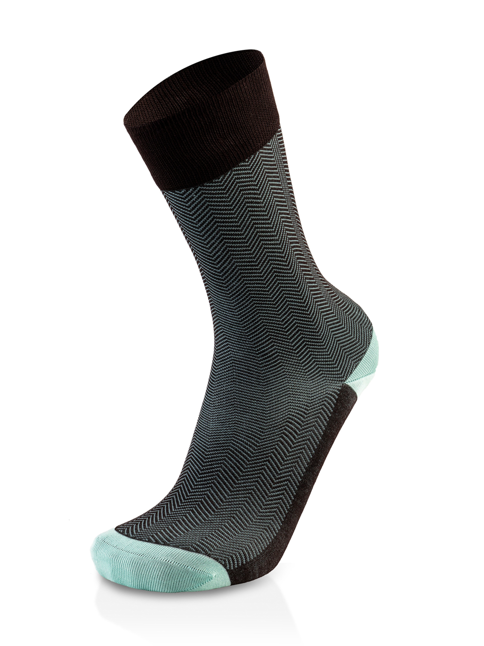 Picture of ZIG ZAG BROWN/MINT